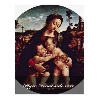 Madonna y St. John el Tondo baptista por los Di de Flyer Personalizado