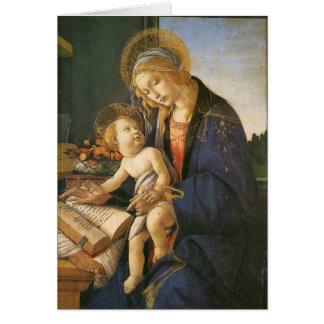 Madonna y tarjeta de Navidad de Botticelli del