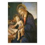 Madonna y tarjeta de Navidad de Botticelli del niñ
