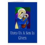 Madonna y tarjeta de Navidad del niño