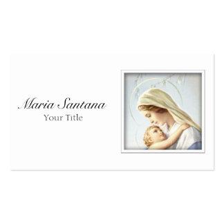 Madonna y tarjeta de visita del niño