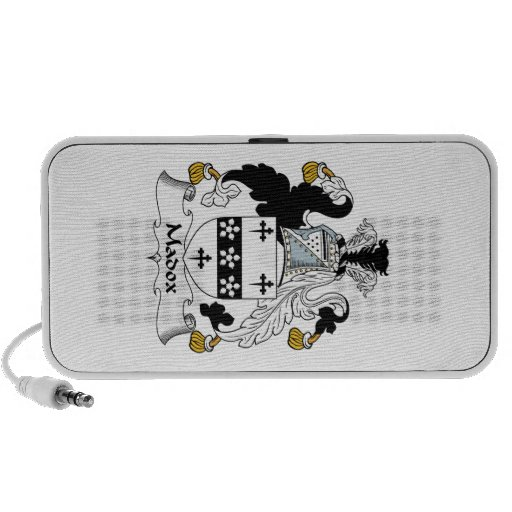 Madox Family Crest Notebook Speakers