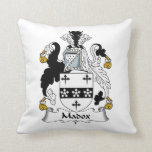 Madox Family Crest Throw Pillow