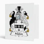 Madox Family Crest Vinyl Binder