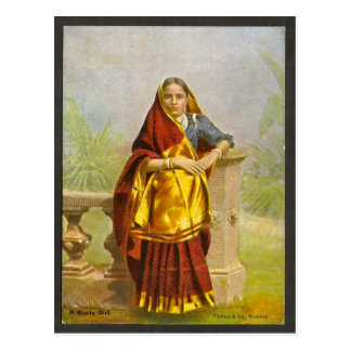 Madras girl post card