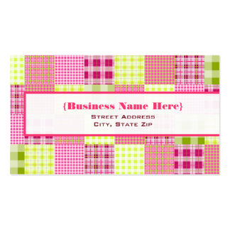 Madras Inspired Plaid All Purpose Business Card