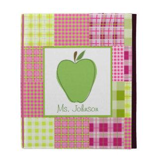 Madras Inspired Plaid iPad Folio For Teachers iPad Folio Cover