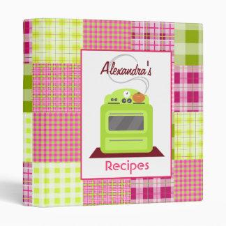 Madras Inspired Plaid Kitchen Recipe Binder