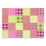 Madras Inspired Plaid Notecard