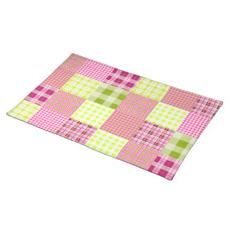 Madras Inspired Plaid Patchwork Place mat Cloth Place Mat
