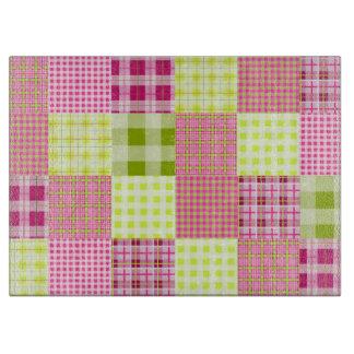 Madras inspiró la tabla de cortar rosada de la tel
