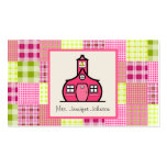 Madras inspiró la tela escocesa/al profesor rosado plantilla de tarjeta de visita