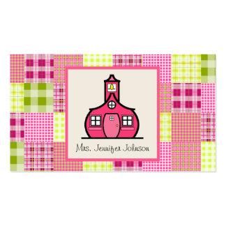 Madras inspiró la tela escocesa/al profesor rosado tarjetas de visita