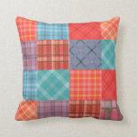 Madras Patchwork Throw Pillow