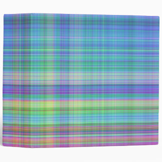 madras plaid 2 inch in blue,turquoise,pink, yellow 3 ring binder
