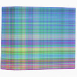 madras plaid 2 inch in blue,turquoise,pink, yellow binder
