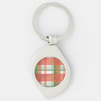 Madras Plaid Christmas Keychain