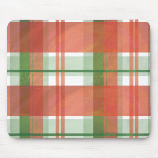 Madras Plaid Christmas Mouse Pad