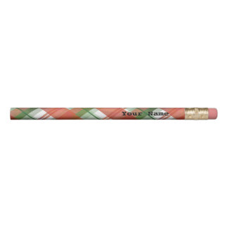 Madras Plaid Christmas Pencil