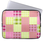 Madras Plaid Inspired Electronics Bag Laptop Sleeves