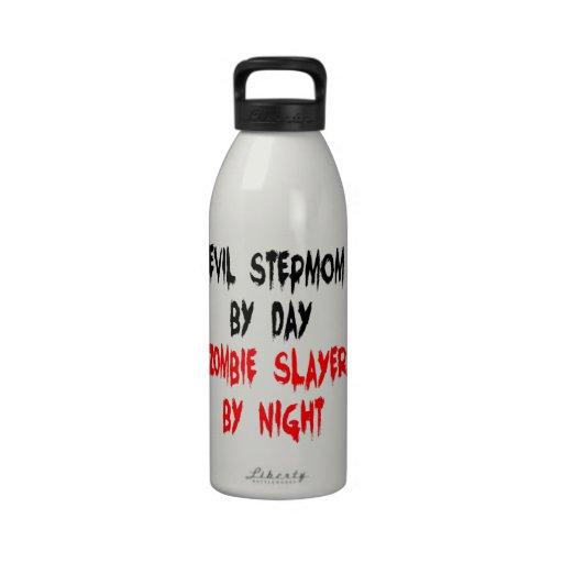 Madrastra del mal del asesino del zombi botella de agua