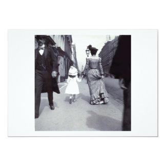 """Madre 1880 + Hija en Boston Invitación 5"""" X 7"""""""