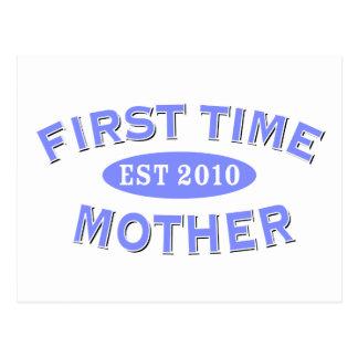 Madre 2010 de la primera vez tarjetas postales