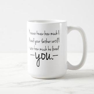 Madre a la taza de café de la cita de la hija