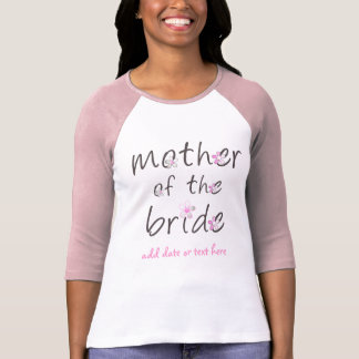 Madre adaptable de la novia camiseta