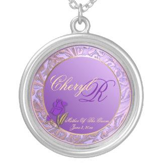 Madre adaptable del recuerdo de la púrpura del colgante redondo