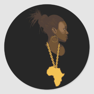Madre África Pegatina Redonda