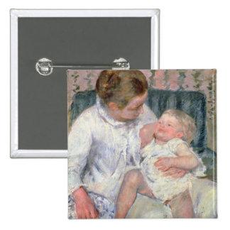 Madre alrededor para lavar a su niño soñoliento, 1 pins