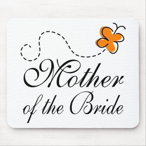 Madre anaranjada de la novia tapete de raton