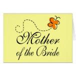 Madre anaranjada de la novia tarjetas