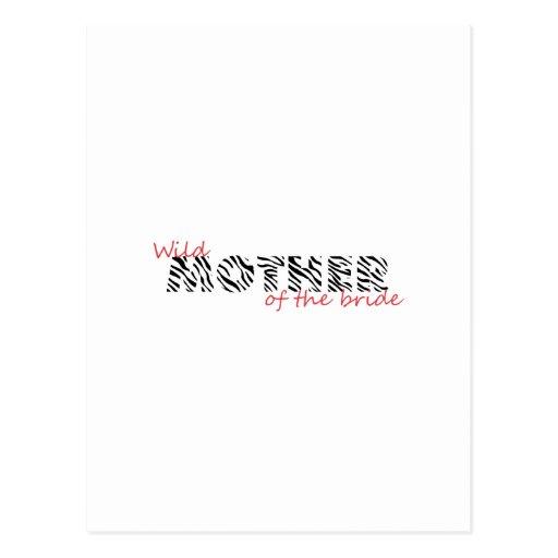 Madre animal del instinto de la novia tarjeta postal