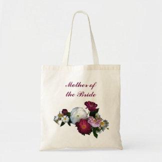 Madre antigua de los rosas de la novia bolsa tela barata