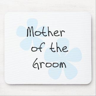 Madre azul de las flores del novio alfombrilla de ratón