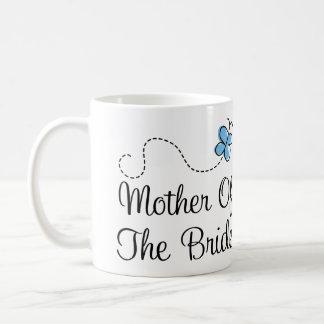 Madre azul del boda de la mariposa de la taza de l