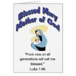 Madre bendecida de Maria de la tarjeta de dios