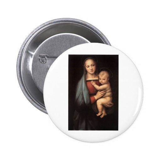 Madre bendecida Maria y niño Jesús Pin