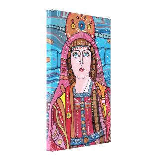 Madre bendecida Virgen María Impresión En Lienzo Estirada