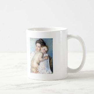 Madre Berthe de Maria Cassatt- que detiene a su be Taza De Café