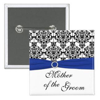 Madre blanca del damasco del negro azul del Pin