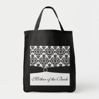 Madre blanco y negro de la bolsa de asas de la