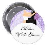 Madre brillante de la púrpura del botón/Pin del no