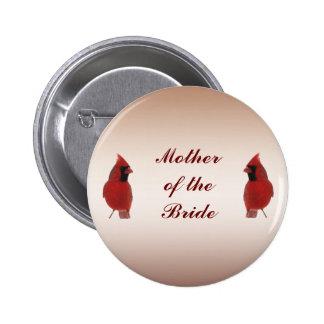 Madre cardinal del boda del Pin de la novia