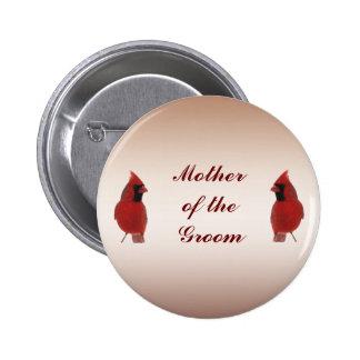 Madre cardinal del boda del Pin del novio