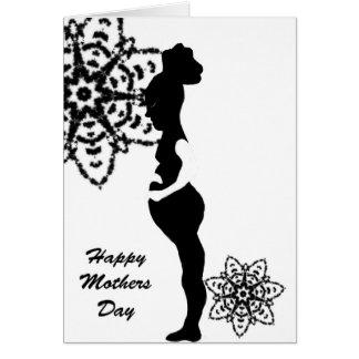 Madre cariñosa tarjeta de felicitación