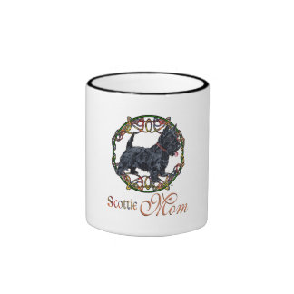 Madre céltica de Terrier del escocés Taza De Dos Colores
