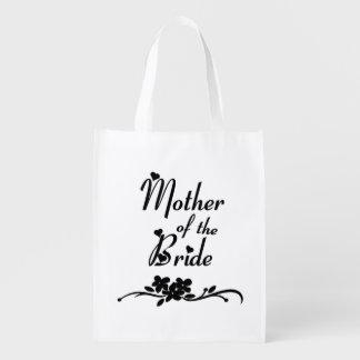 Madre clásica de la novia bolsas reutilizables